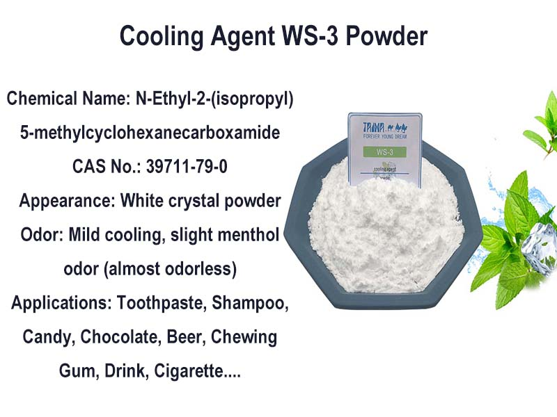Natural Cooling Agent Powder WS-3 (Instead of Menthol) Applications
